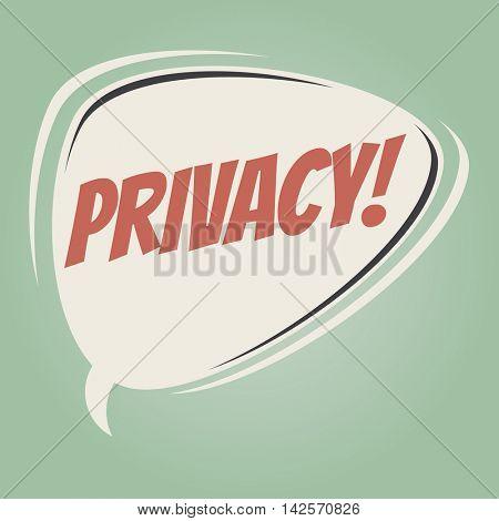 privacy retro speech balloon