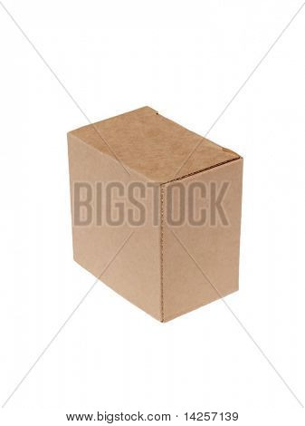 cardboard box on a white background