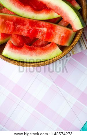 the concept of raw food diet, eat too much watermelon, and poisoned with pesticides than dangerous watermelon benefits watermelon, place for text
