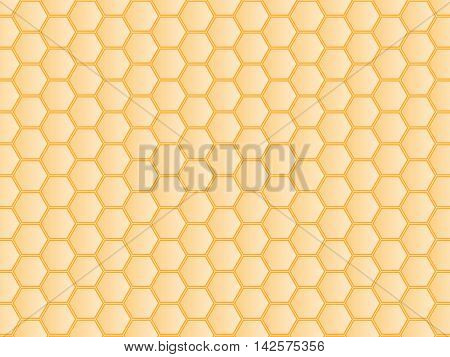 Ivory honeycomb cells background texture. Vector illustration