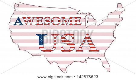 Awesome USA, Stars And Stripes Poster 01a