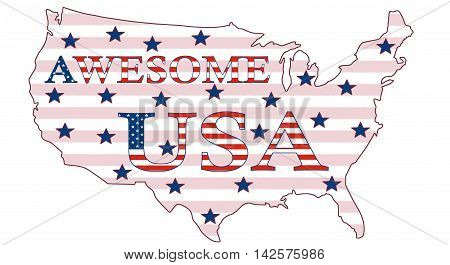Awesome USA, Stars And Stripes Poster 02a