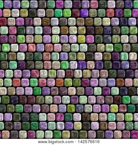 Glass tiles seamless generated hires texture or background, 3D illustration