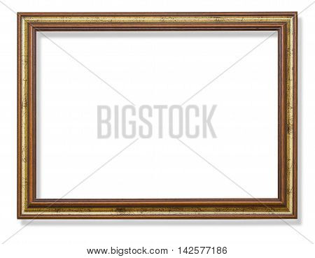 Vintage frame isolated on white with clipping path