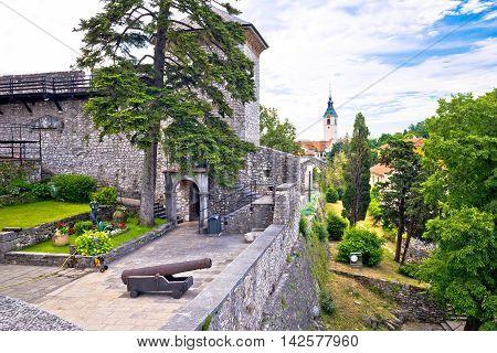 Old town of Trsat near Rijeka landmarks view Primorje region of Croatia