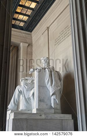 The Abraham Lincoln statue in Washington D.C.