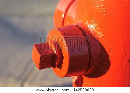 red hydrant closeup detail macro firefighter security