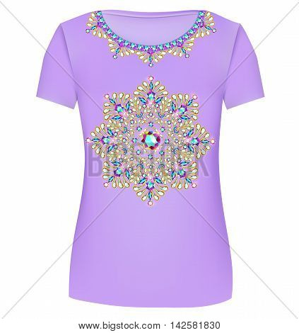 Design T-shirts. Print A Fashionable Ornament For Women's Fashio
