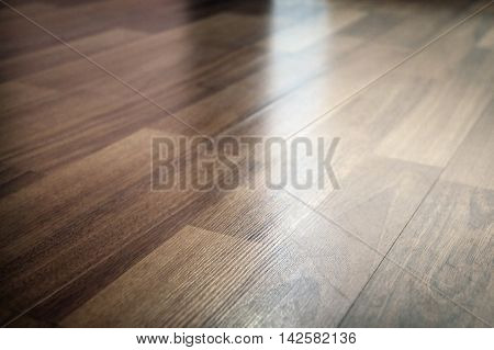 Background of parquet texture with sharp focus