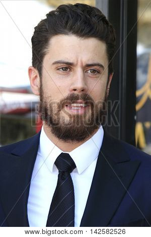 LOS ANGELES - AUG 11: Toby Kebbell at a ceremony where Roma Downey is honored with a star on the Hollywood Walk of Fame on August 11, 2016 in Los Angeles, California
