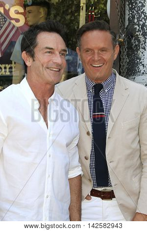 LOS ANGELES - AUG 11: Jeff Probst, Mark Burnett at a ceremony where Roma Downey is honored with a star on the Hollywood Walk of Fame on August 11, 2016 in Los Angeles, California