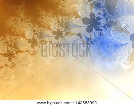 Abstract background with gradient multiple colors- blue, yellow, white.