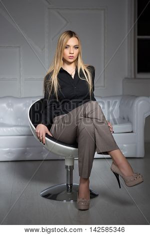 Young Attractive Blond Woman