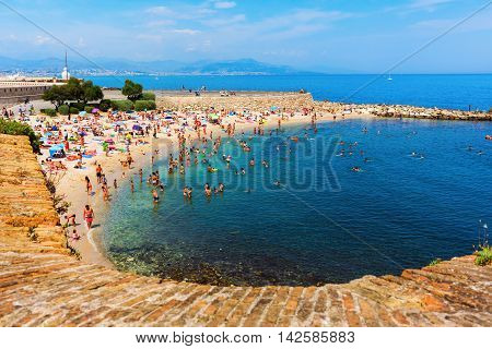 City Beach Of Antibes, Cote Azur, France