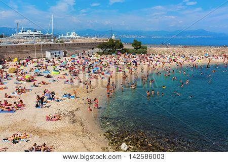 City Beach Of Antibes, Cote Azur, France