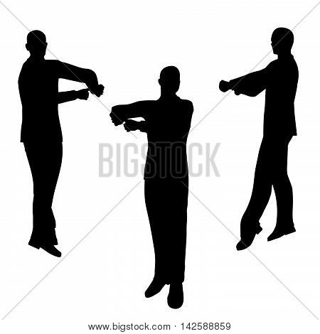Man Silhouette In Blaming Pose