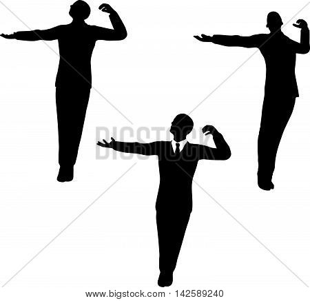 Man Silhouette In Peaceful Pose