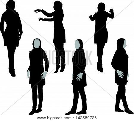 Arabic Woman Silhouette In Doctor Pose