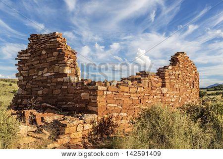 Box Canyon pueblo ruin in Wupatki National Monument near Flagstaff Arizona.