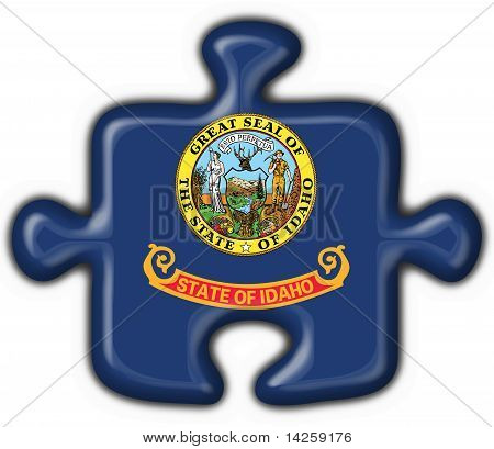 Idaho (usa State) Button Flag Puzzle Shape
