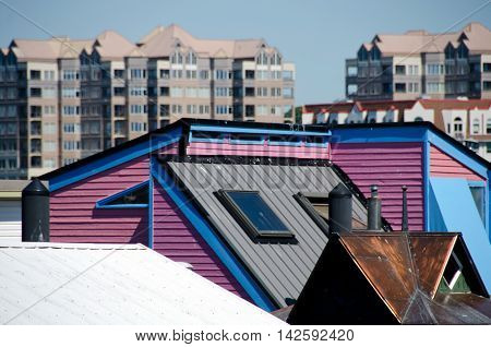 Summer Colors In Float Home Village, Victoria - 2