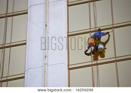Window Cleaner On Skyscraper