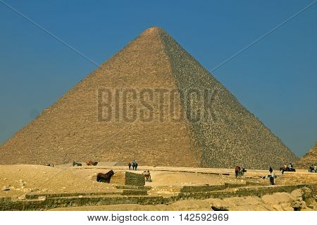 Beautiful view of Pyramids of Giza, EGYPT.