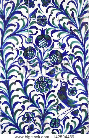 Fajalauza tile glazed wall originally developed in Granada Albaicin District Spain