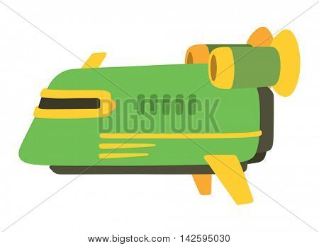 UFO spaceship vector isolated