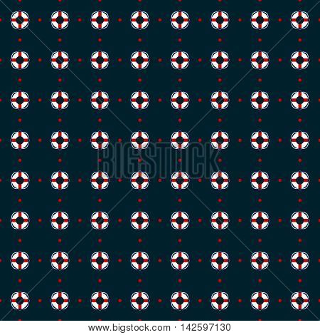 seamless life buoy background and pattern vector illustration
