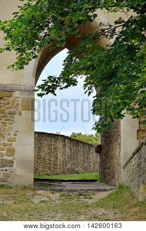 Old medieval fortification in Levoca Slovakia. Polish Gate at the defensive walls in Levoca Slovakia.