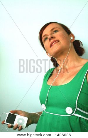 Woman Listening To An