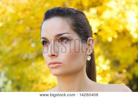 Glamorous yellow portrait