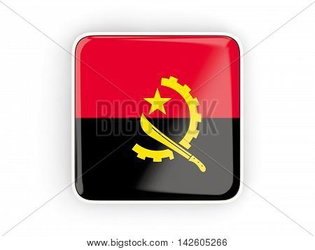 Flag Of Angola, Square Icon