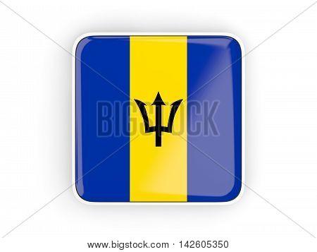Flag Of Barbados, Square Icon