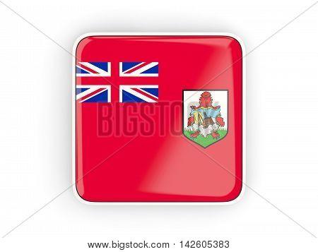 Flag Of Bermuda, Square Icon