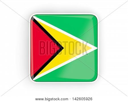 Flag Of Guyana, Square Icon