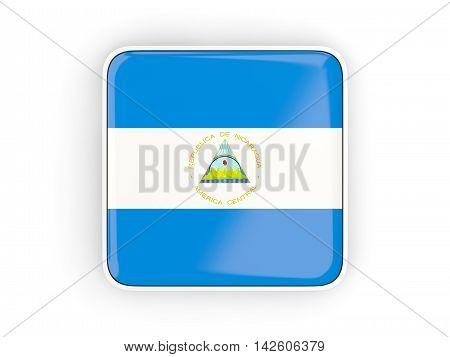 Flag Of Nicaragua, Square Icon