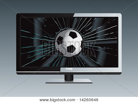 Lcd Tv Broken Ball