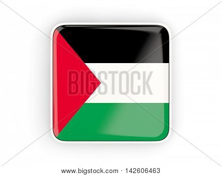 Flag Of Palestinian Territory, Square Icon
