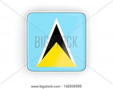 Flag Of Saint Lucia, Square Icon