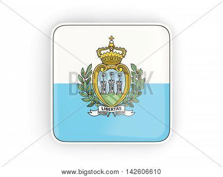 Flag Of San Marino, Square Icon