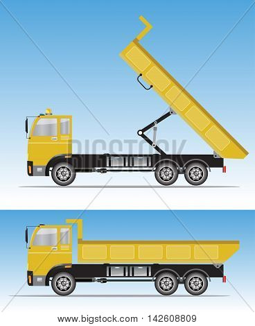 Side View Of Big Dump Truck