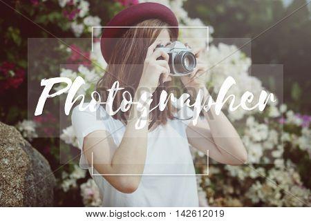 Photographer Camera Focus Shot Studio Picture Concept