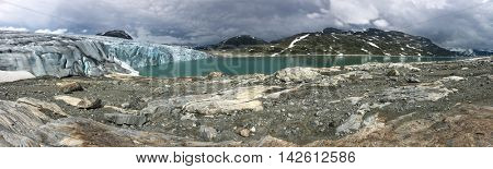 Picturesque panorama of the Jostedalsbreen glacier. Norway