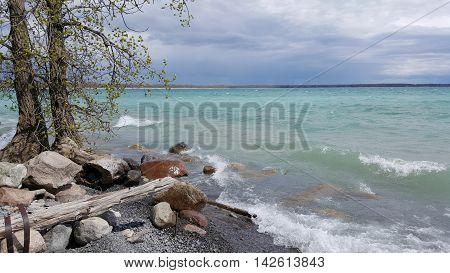 Walking Along the Sandbanks in Picton Ontario