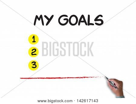 My Goals  Handwriting Of My Goals