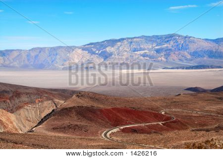 Winding Road Death Valley