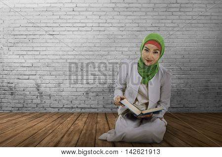 Young Muslim Asian Woman With Hijab Style