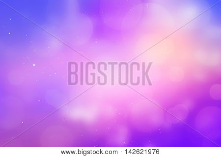 Template giftcard sky and glowing purple you can put your design.